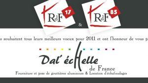 Graphiste La Rochelle - Elisabeth MORIN - Carte de voeux Dal'échelle