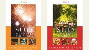 Proposition graphique brochures Sud Vendée Tourisme