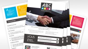Graphiste La Rochelle - Elisabeth MORIN - Flyers ABC Extern'Solution