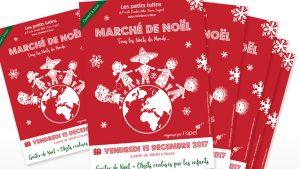 Graphiste La Rochelle - Elisabeth MORIN - Affiche marché de Noël pour une école