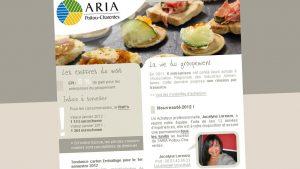 ARIA - newsletter - Elisabeth MORIN, graphiste webmaster La Rochelle