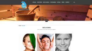 Au Spa - site internet - Elisabeth MORIN graphiste webmaster La Rochelle