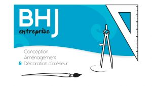 Elisabeth MORIN - graphiste La Rochelle - logo BHJ entreprise