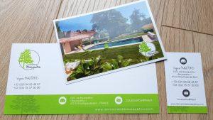 Graphiste La Rochelle - Elisabeth MORIN - Carte de visite, de correspondance et carte postale Bousquetou