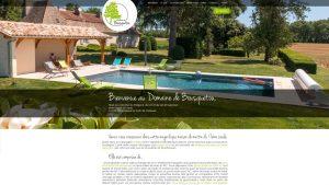 Domaine de Bousquetou - site internet - Elisabeth MORIN graphiste webmaster La Rochelle