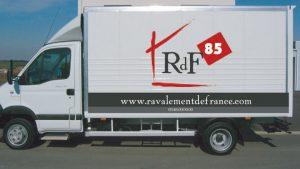 Habillage graphique des camions de Ravalement de France - Elisabeth MORIN - Graphiste La Rochelle
