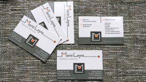 Graphiste La Rochelle - Elisabeth MORIN - Cartes de visite Marie Leyre