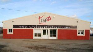 Devanture Ravalement de France - Elisabeth MORIN - Graphiste La Rochelle