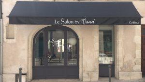 Devanture Salon by Maud - Elisabeth MORIN - Graphiste La Rochelle