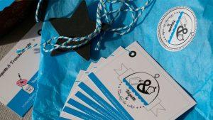 Graphiste La Rochelle - Elisabeth MORIN - Cartes de visite Etiquette et tranche de cake