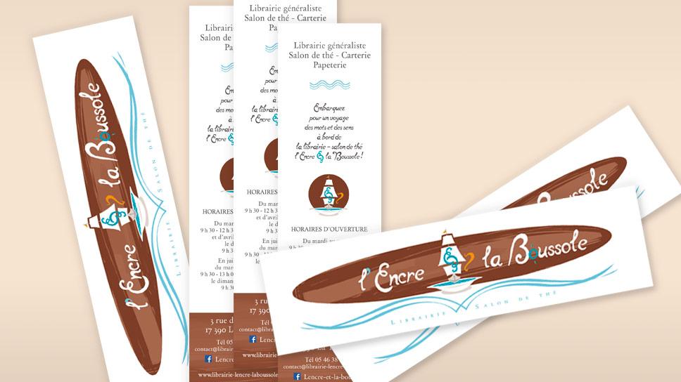 Cartes De Visite Marque Page LEncre Et La Boussole