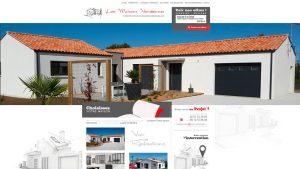 Les Maisons Vendéeennes - site internet - Elisabeth MORIN graphiste webmaster La Rochelle