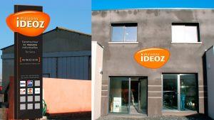 Devanture Maisons Ideoz - Elisabeth MORIN - Graphiste La Rochelle