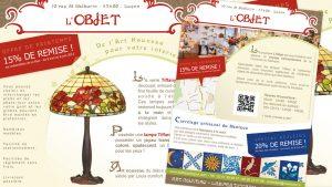 Graphiste La Rochelle - Elisabeth MORIN - Flyer boutique l'Objet