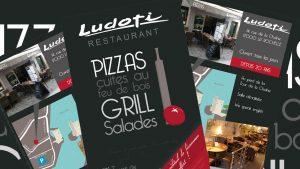 Graphiste La Rochelle - Elisabeth MORIN - Flyers Restaurant Le Ludoti