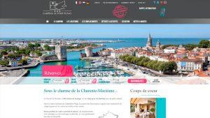 Camping Port Punay - maquette graphique site internet - Elisabeth MORIN graphiste La Rochelle