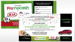 Graphiste La Rochelle - Elisabeth MORIN - Carton d'Invitation Promocash
