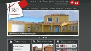 Ravalement de France - site internet - Elisabeth MORIN graphiste webmaster La Rochelle