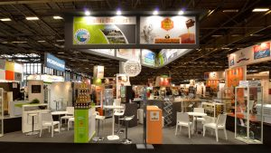 Habillage graphique des stands de l'ARIA Poitou-Charentes - SIAL 2014 - Elisabeth MORIN Graphiste La Rochelle