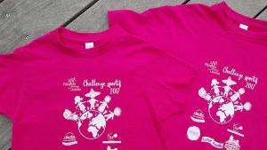 Tee-shirts pour challenge sportif d'une école - Elisabeth MORIN Graphiste La Rochelle