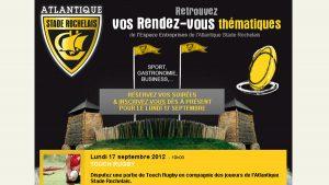 Stade Rochelais - newsletter - Elisabeth MORIN, graphiste webmaster La Rochelle