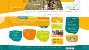 OT Sud Mayenne - maquette graphique site internet - Elisabeth MORIN graphiste La Rochelle