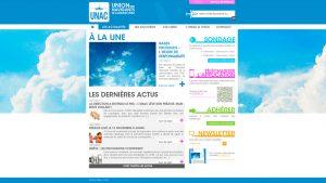 Unac - maquette graphique site internet - Elisabeth MORIN graphiste La Rochelle